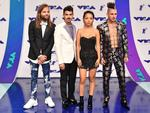 Jack Lawless, Joe Jonas, JinJoo Lee and Cole Whittle of DNCE attend the 2017 MTV Video Music Awards at The Forum on August 27, 2017 in Inglewood, California. Picture: AFP