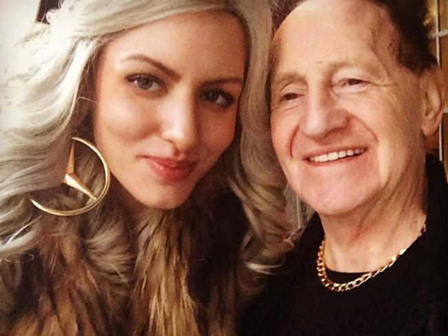 Meet Brynne 2.0 ... Geoffrey Edelsten moves on from ex-wife Brynne with 24-year-old New York model Gabi Grecko Picture: Pinterest