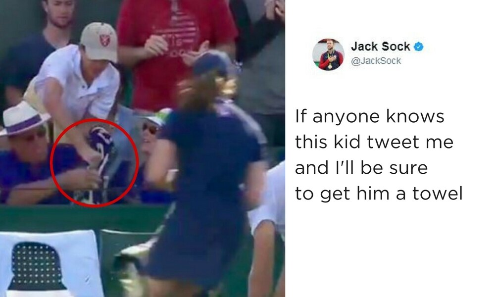 Boy who had Wimbledon towel snatched gets ultimate grand slam