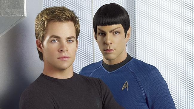 Chris Pine plays James T. Kirk and Zachary Quinto plays Spock in JJ Abrams' Star Trek reb