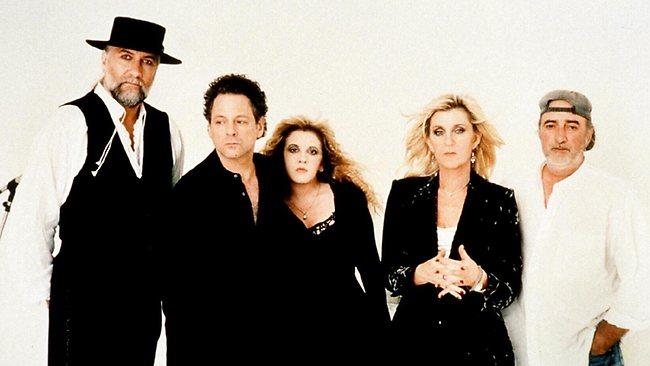 Mick Fleetwood (L) Lindsey Buckingham, Stevie Nicks, Christine and John McVie from Fleetwood Mac.