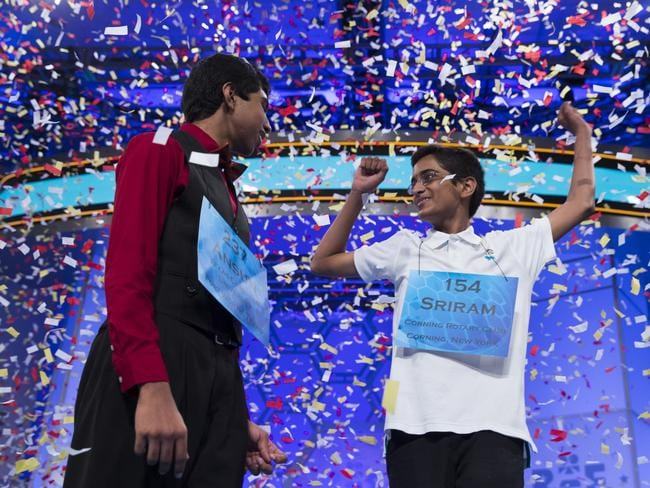 Spelling history ... Ansun and Sriram are the first co-winners in more than half a century.