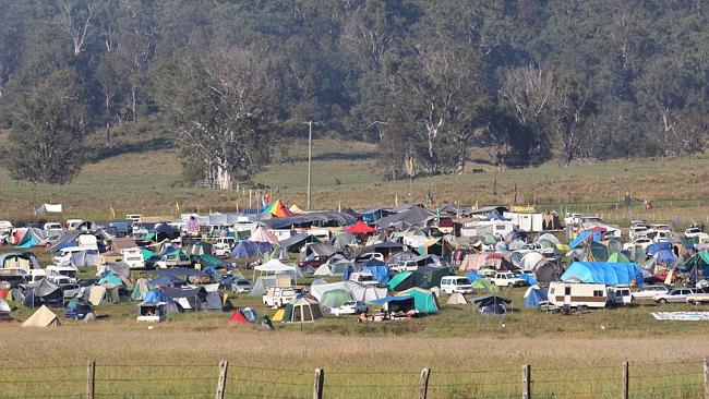 Anti CSG protesters at Bentley on the eve of possible eviction from their camp site. Picture: Jason O'Brien