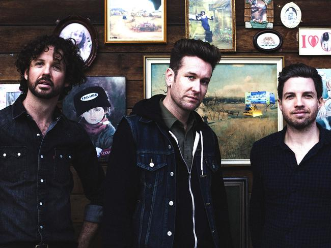 Eskimo Joe ran foul of their record label after success with debut record  <i>Girl</i>.