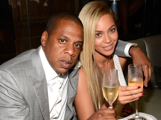 Jay-Z and Beyonce pose for a romantic photo in 2013.