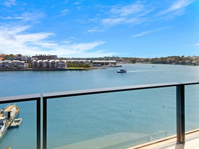One of the few Barangaroo apartments left (above) it is directly over the water, which appealed to buyers rather than being high up in a tower