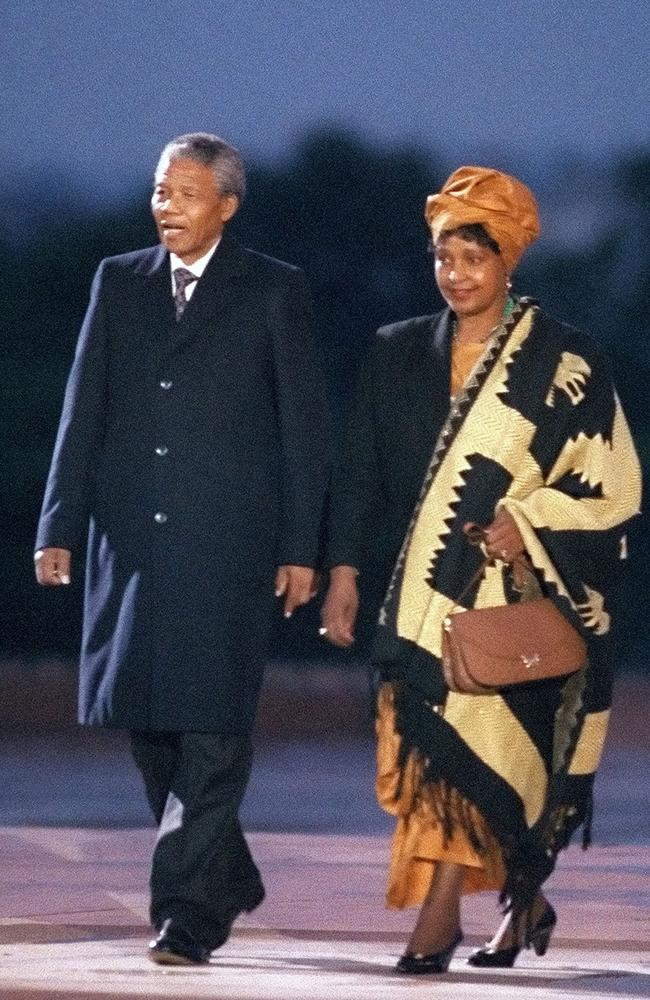 With Nelson Mandela in Paris in 1990. Picture: AFP PHOTO / DANIEL JANIN