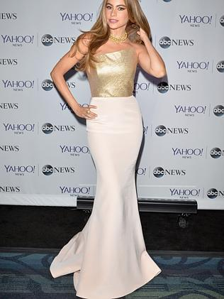 Sofia Vergara in her signature silhouette: Mermaidy. (Photo by Andrew H. Walker/Getty Images for Yahoo News)