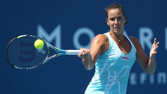 Jarmila Gajdosova showed glimpses of her best form during her first-round win in Hobart.