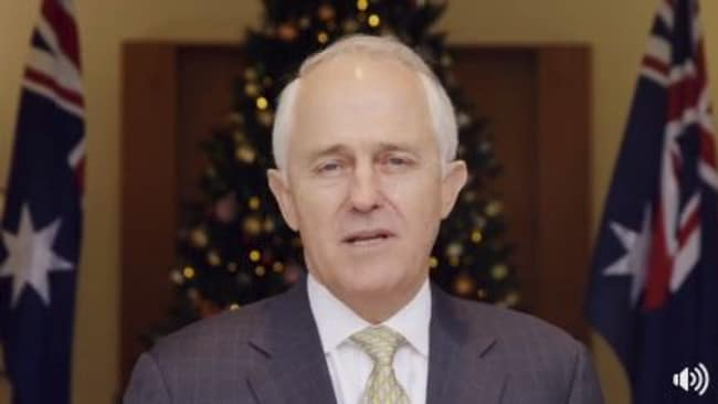 Malcolm Turnbull in his annual Christmas message. Picture: Supplied/Facebook