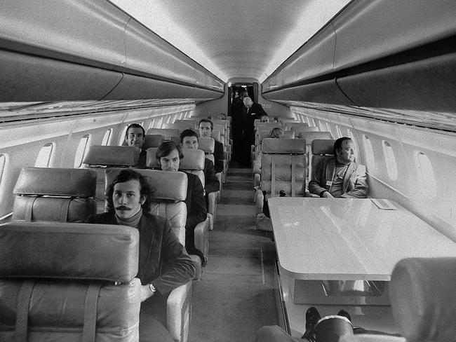 The interior of an Air France Concorde is seen in this May 1973 picture.