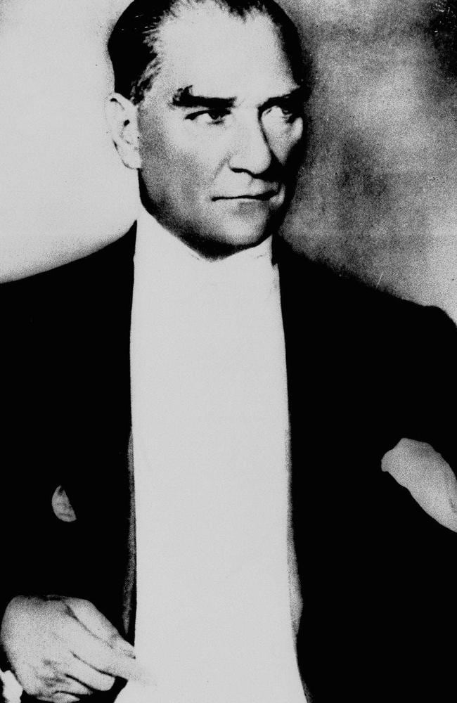 Founder of the modern Turkey ... Mustafa Kemal Ataturk, pictured in 1937. Picture: AP Photo
