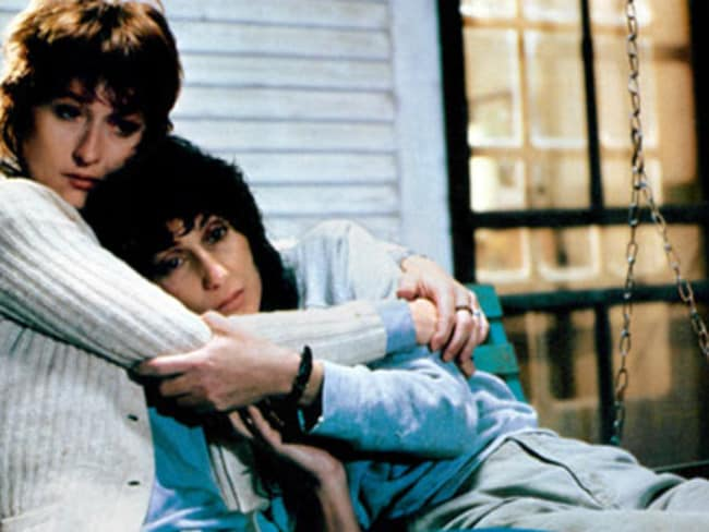 Meryl Streep as Karen Silkwood and Cher in a scene from 1983 film Silkwood. Picture: Supplied