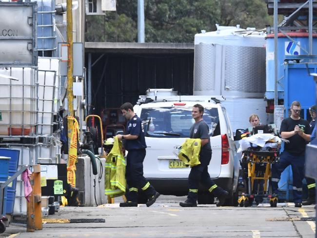 One man has died after becoming trapped in what is believed to be an oil tank at a factory in Sydney's west. Picture: AAP