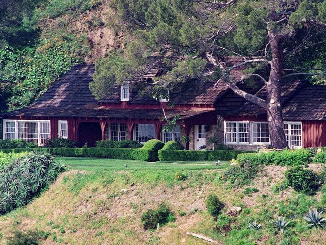 This 1992 file photo shows the Benedict Canyon estate on Cielo Drive in the Bel Air Estates area of Los Angeles where five people were murdered in 1969. It has since been demolished and replaced with a new structure. Picture: AP