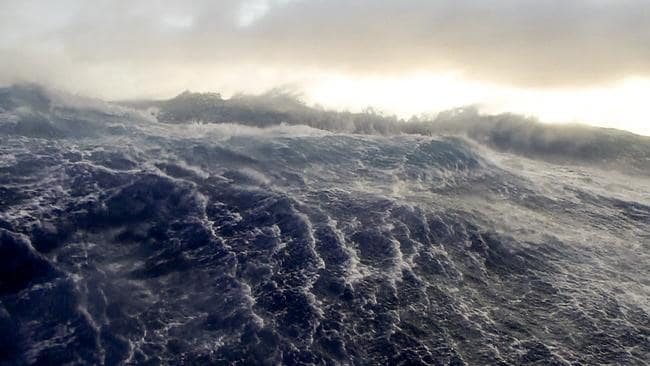 Stormy seas ... Search crews have endured dreadful conditions looking for MH370. Picture: John Draves.