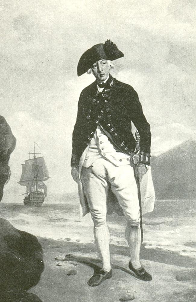 Sailed with the First Fleet ... A painting of Admiral Arthur Phillip by Francis Wheatley. Portrait from National Portrait Gallery, London