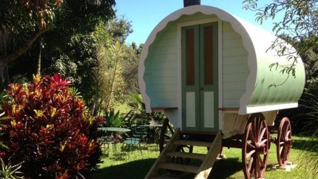 There is also a bespoke gypsy wagon with a private bathroom is the church's garden.