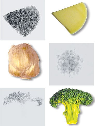 Naturally occurring radiation in everyday vegetables.
