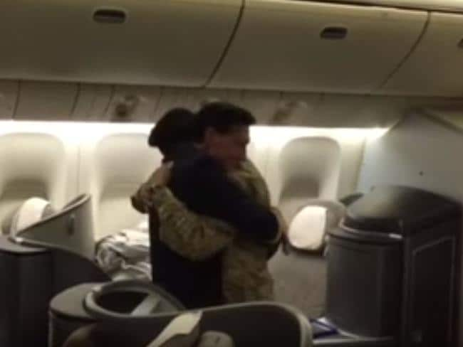 Emotions ran high. Picture: United Airlines IAD 777 Captain Mario Lopez