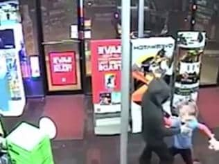 Supplied Editorial Boy fights robber with stuffed toy