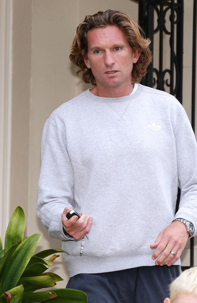 James Hird outside his Toorak home today. Picture: Norm Oorloff