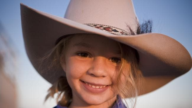 Amy 'Dolly' Everett modelled or Akubra hats when she was a little girl.