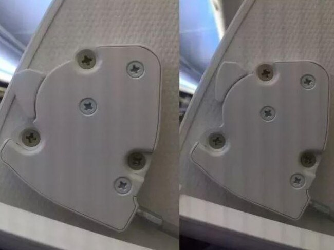 The hidden device helps flight attendants close and open the overhead compartments. Picture: Quora