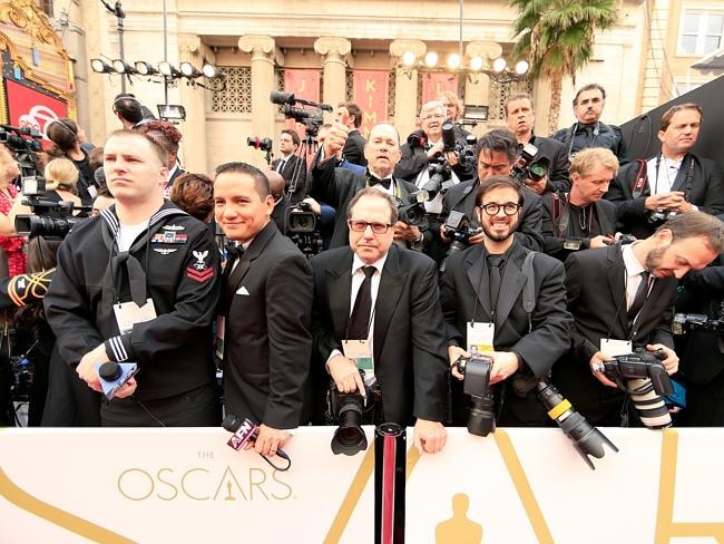 Photographers are in place as they wait for the big stars to arrive.