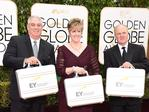 Representatives of Ernst Young arrive, carrying suitcase with the winners, at the 73rd annual Golden Globe Awards, January 10, 2016, at the Beverly Hilton Hotel in Beverly Hills, California. Picture: AFP PHOTO / VALERIE MACON