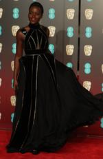 Mexico-born Kenyan actress Lupita Nyong'o poses on the red carpet upon arrival at the BAFTA British Academy Film Awards at the Royal Albert Hall in London on February 18, 2018. Picture: AFP PHOTO / Daniel LEAL-OLIVAS
