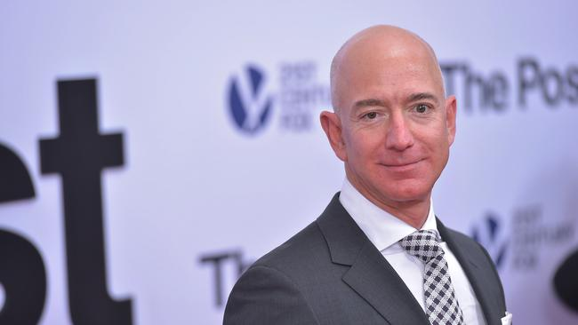 Jeff Bezos has become the richest man in the world with a personal fortune of $135 billion. Picture: Mandel Ngan/AFP