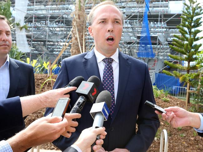 Facing an embarrassing backdown ... Health Minister Peter Dutton was very vocal in spoort of a $7 GP co-payment. Picture: Richard Gosling