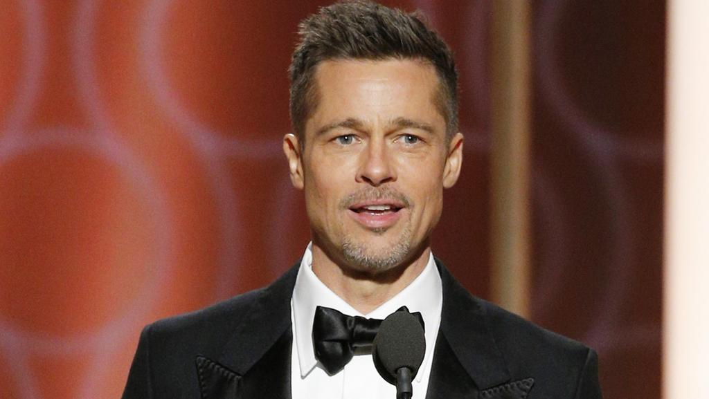 Brad Pitt made a surprise appearance at the Golden Globes. Picture: Paul Drinkwater/NBCUniversal via Getty Images