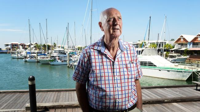 Forty years ago Lutz Frankenfeld sailed his Cantiki boat from Darwin to Singapore. Picture: JUSTIN KENNEDY