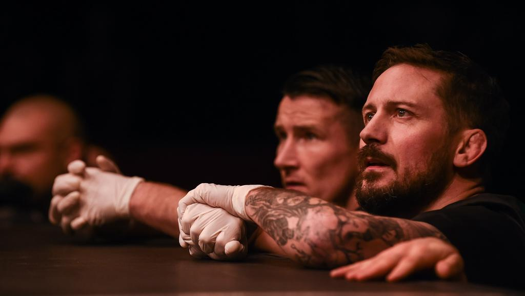 John Kavanagh (right) thinks the UFC's decision to strip Conor McGregor is shortsighted.