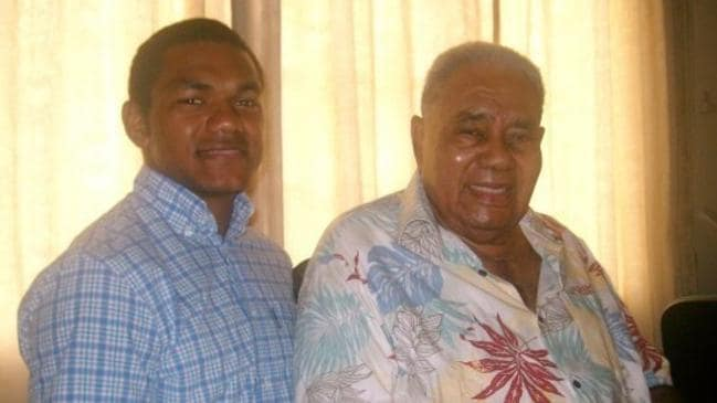 Speight with his late grandfather.