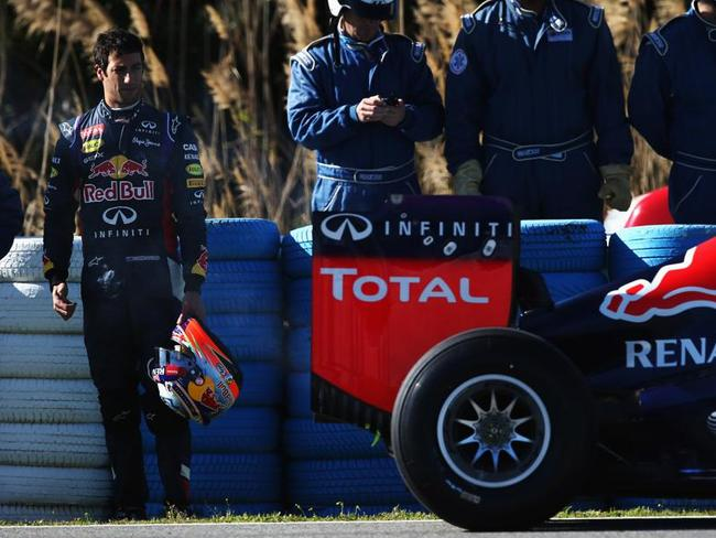 Ricciardo was left stranded in his first drive of the new Red Bull.
