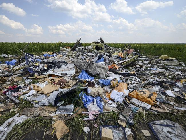 The MH17 crash site. Picture: AFP Photo/Bulent Kilic