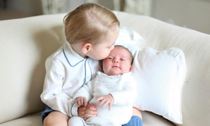 Princess Charlotte and George