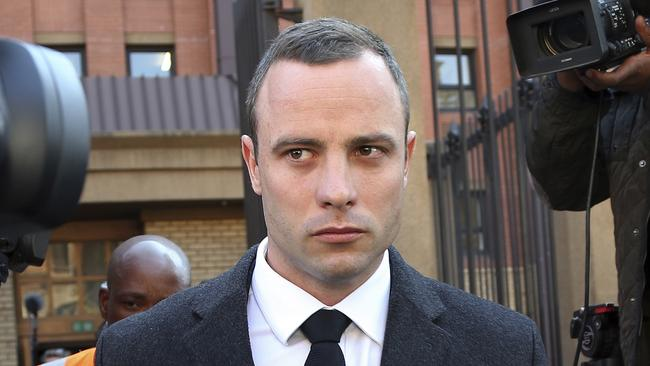 Oscar Pistorius leaves the high court in Pretoria, South Africa, this week. Picture: AP Photo