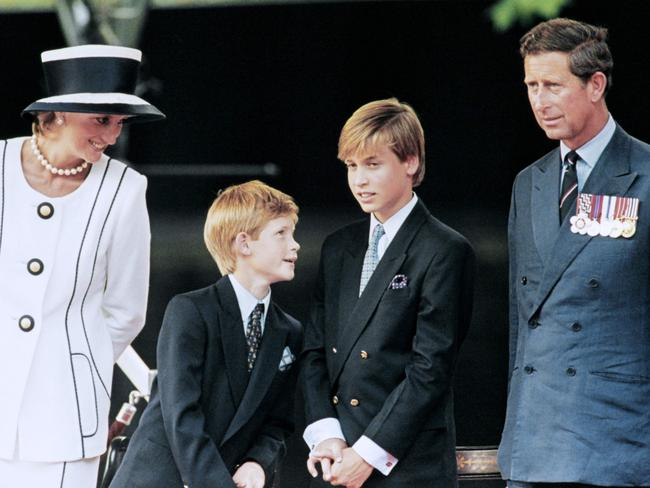 The Royals commemorating VJ Day on August 31, 1997. Picture: AFP