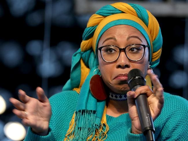 Yassmin Abdel-Magied has polarised opinion with her views but was recently given the 2018 Young Voltaire Award which recognises advocates of free speech. Picture: Chris Pavlich / The Australian