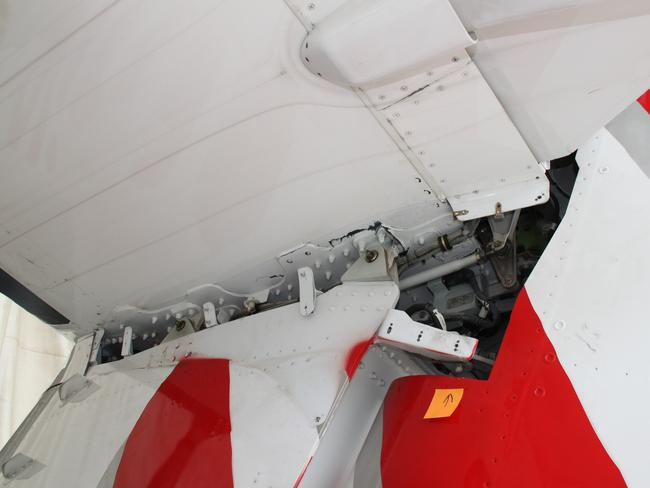 The damaged aircraft. Picture: ATSB