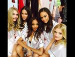 """Victoria's Secret Fashion Show 2013: Angel Joan Smalls posts, """"First Victoria's Secret Fashion Show done with these Angels.. backstage pass."""" Picture: Instagram"""