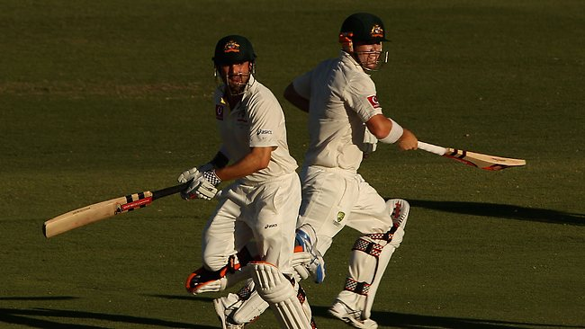 Dave Warner and Ed Cowan