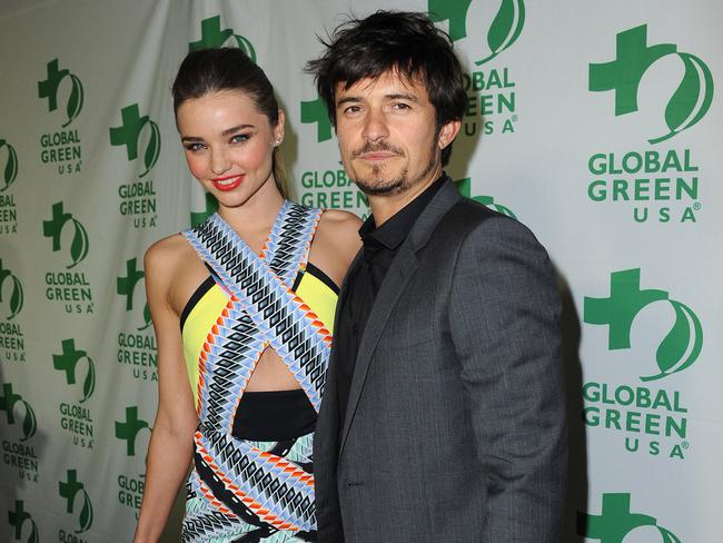 Happier times ... Orlando Bloom and Miranda Kerr.