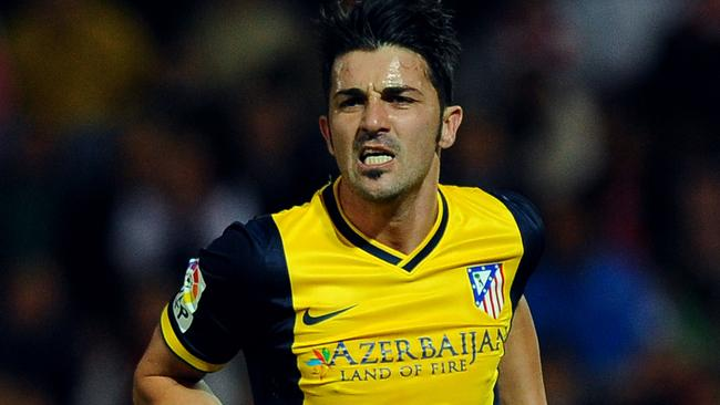 David Villa in action for Atletico Madrid.
