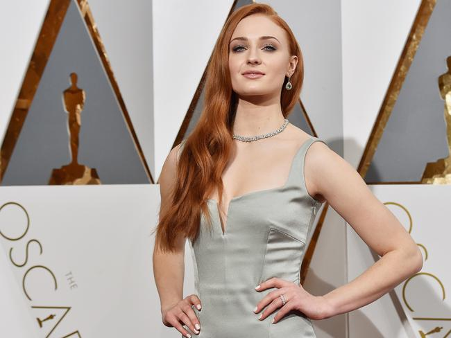 Alfie Allen is full of praise for his co-star Sophie Turner, pictured at the 2016 Oscars. Picture: Kevork Djansezian / Getty