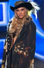 Jessie Jazz Vuijk, Miss Netherlands 2015 debuts her National Costume on stage at the 2015 Miss Universe Pagaent on December 16, 2015 in Las Vegas. Picture: HO/The Miss Universe Organization